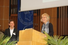 Heike Paul and Ebeling Fellowship winner Sebastian M. Herrmann