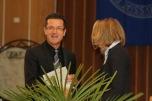 Oliver Scheiding and Best AmSt Article Award winner Katja Sarkowsky