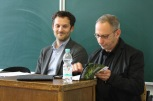 """Justin Sully and Mark Seltzer (workshop """"Making News"""")"""
