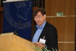 Ulfried Reichardt introduces keynote speaker Sverker Sörlin