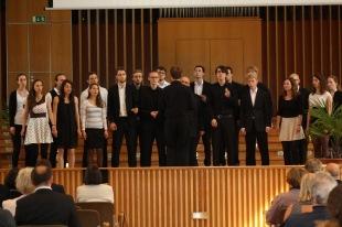 The University of Bonn Jazz Choir (conductor: Jan-Hendrik Herrmann) during their performance