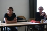 Susan Schuppli and Antje Kley in the PGF workshop