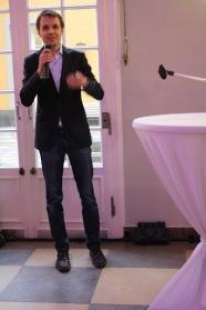 North American Studies Program alumnus Peter Schniering speaks at our birthday party